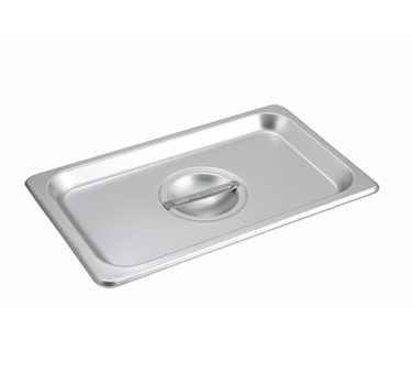 Winco SPSCQ, S/S Steam Pan Cover, 1/4 Size, Solid