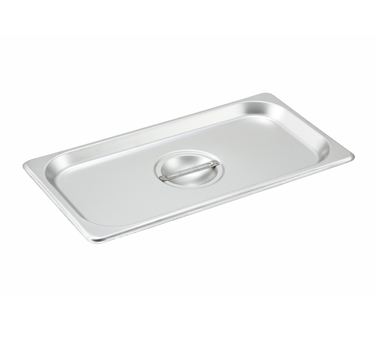 Winco SPSCT, S/S Steam Pan Cover, 1/3 Size, Solid - Kentucky Restaurant Supply