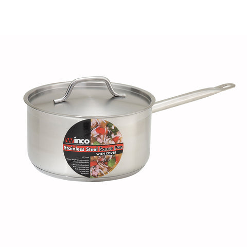 Winco SSSP-3 Induction Sauce Pan 3.5 Quart - Kentucky Restaurant Supply