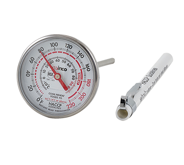 "Winco TMT-IR1, Instant Read Thermometer, 1-3/4"" Dial, 5"" Probe - Kentucky Restaurant Supply"