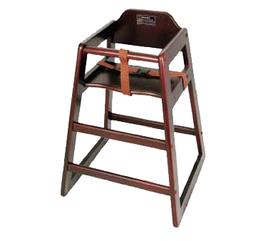 Winco CHH-103 Hardwood High Chair with Walnut Finish - Kentucky Restaurant Supply