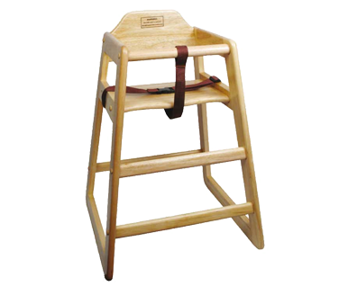 Winco CHH-101 Hardwood High Chair with Natural Finish - Kentucky Restaurant Supply