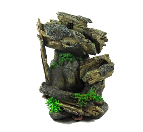 Tabletop Fountain Natureu0027s Waterfall In Tree Trunk