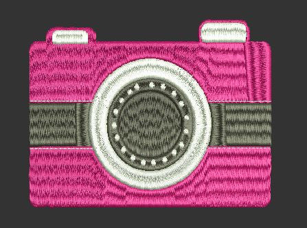 Camera Embroidery Design 4X4 5X7