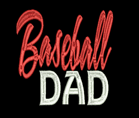 BASEBALL DAD  Embroidery Design 4X4 5X7 8X12 Simply Southern Legend Instant Download