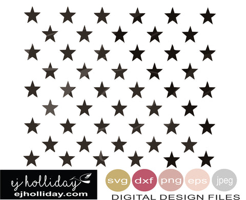 50 stars union SVG EPS DXF JPG JPEG VECTOR Graphic Design Digital Cutting File Instant Download Cameo Silhouette Cricut