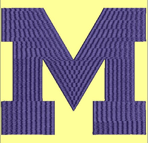 Michigan M Embroidery Design Instant Download Simply Southern Legend