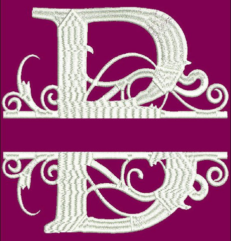 Fancy Letter B Embroidery Design 2X2 4X4 5X7 and 8X12