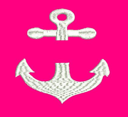 Anchor Split Machine Embroidery Design 4X4