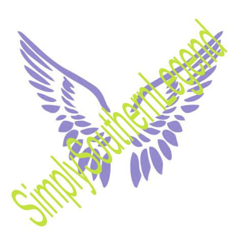 Angel Wings Instant Download Silhouette Cricut SVG DXF