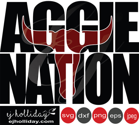 Aggie Nation knockout outline 19 svg eps png dxf jpeg jpg vector Graphic Design Digital Cutting File Instant Download Cameo Silhouette Cricut