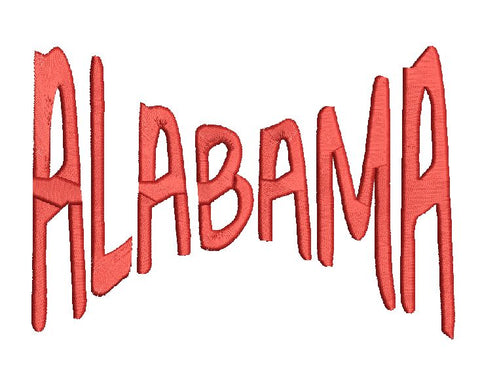 Alabama MEB Machine Embroidery Design 5X7