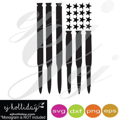 Ammo Flag with stars SVG EPS DXF PDF JPG JPEG VECTOR Graphic Design Digital Cutting File Instant Download Cameo Silhouette Cricut