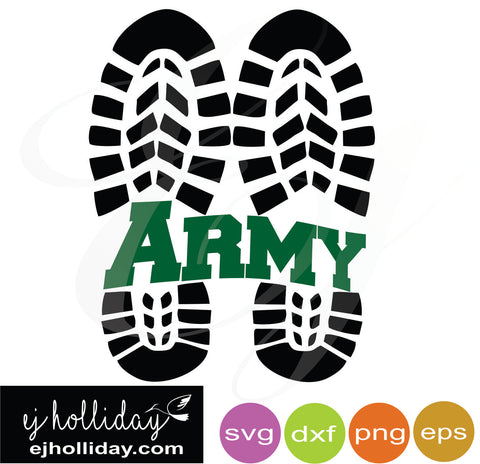 Army Combat Boots Split Design svg dxf eps png VECTOR Graphic Design Digital Cutting File Instant Download Cameo Silhouette Cricut