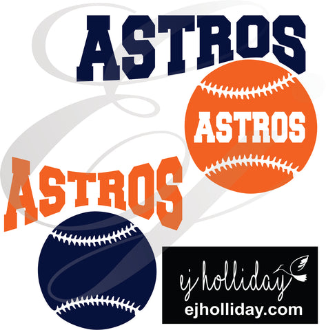 Astros Baseball SVG EPS DXF PNG VECTOR Graphic Design Digital Cutting File Instant Download Cameo Silhouette Cricut