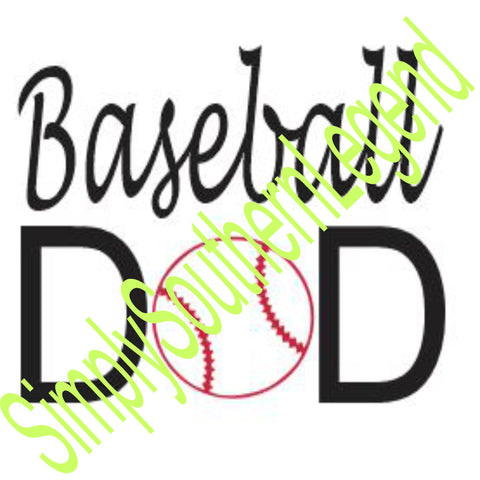 BASEBALL DAD Vinyl Design Instant Download