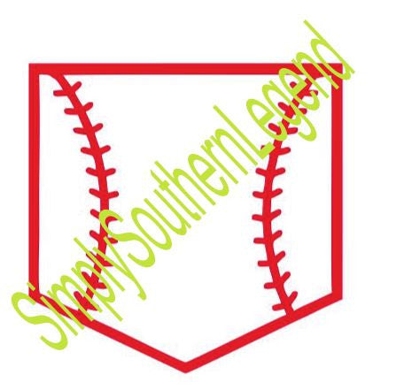 Baseball Pocket Instant Download Silhouette Cricut SVG DXF