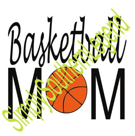 BASKETBALL MOM Vinyl Design Instant Download Silhouette Cricut SVG DXF