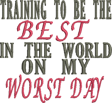 BEST WORST DAY Embroidery Design 4X4