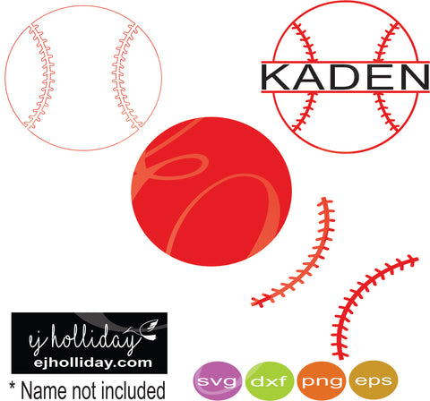 Baseball svg dxf eps png Vector Graphic Design Digital Cutting File Instant Download Cameo Silhouette Cricut