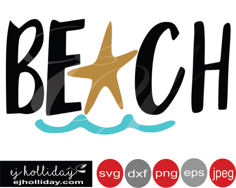 Beach svg eps png dxf jpeg jpg VECTOR Graphic Design Digital Cutting File Instant Download
