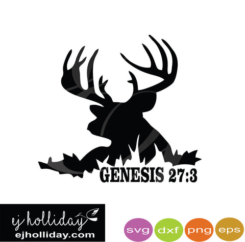 Buck silhouette Genesis 27-3 svg dxf eps png Vector Graphic Design Digital Cutting File Instant Download Cameo Silhouette Cricut