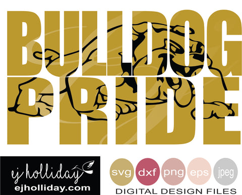 Bulldog Pride 19 svg eps png dxf jpeg jpg vector Graphic Design Digital Cutting File Instant Download Cameo Silhouette Cricut
