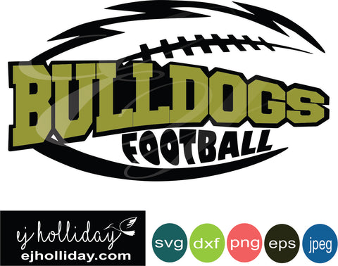 Bulldogs Football Layered Knockout svg dxf eps png jpeg jpg Vector Graphic Design Digital Cutting File Instant Download Cameo Silhouette Cricut