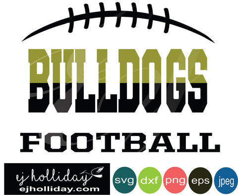Bulldogs Ombre Football svg eps jpeg jpg png dxf Graphic Design Digital Cutting File Instant Download Cameo Silhouette Cricut