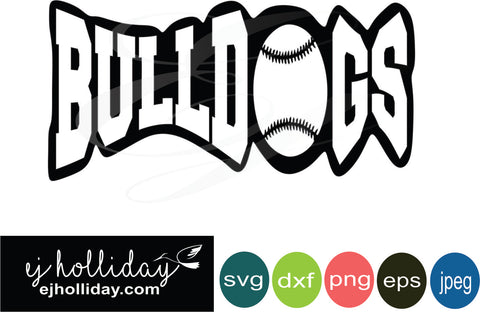 Bulldogs baseball 18 svg eps jpeg jpg png dxf Graphic Design Digital Cutting File Instant Download Cameo Silhouette Cricut