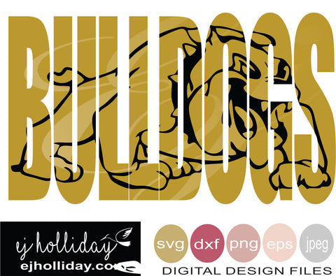 Bulldogs knockout 19 svg eps png dxf jpeg jpg vector Graphic Design Digital Cutting File Instant Download Cameo Silhouette Cricut