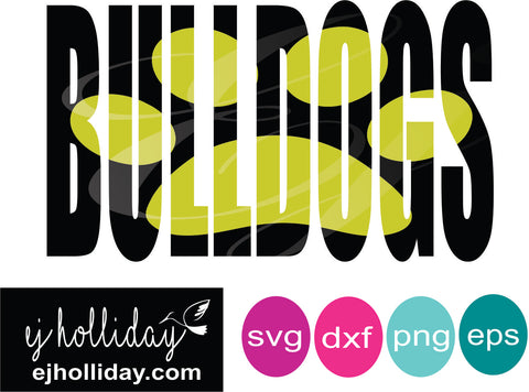 Bulldogs knockout svg dxf eps png Vector Graphic Design Digital Cutting File Instant Download Cameo Silhouette Cricut