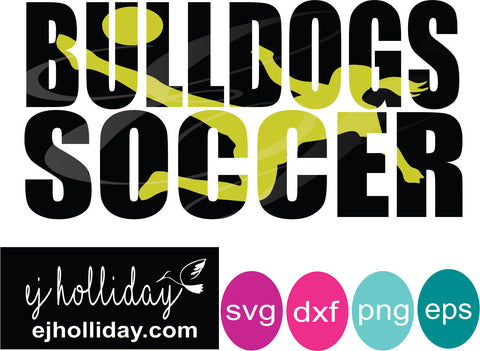 Bulldogs soccer knockout svg dxf eps png Vector Graphic Design Digital Cutting File Instant Download Cameo Silhouette Cricut