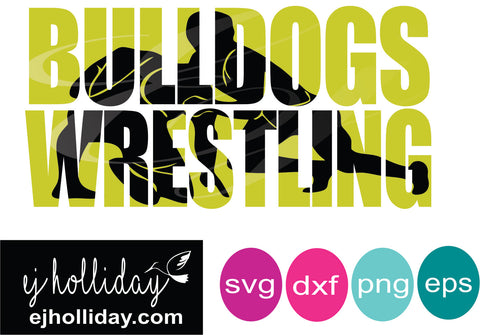 Bulldogs wrestling knockout svg dxf eps png Vector Graphic Design Digital Cutting File Instant Download Cameo Silhouette Cricut