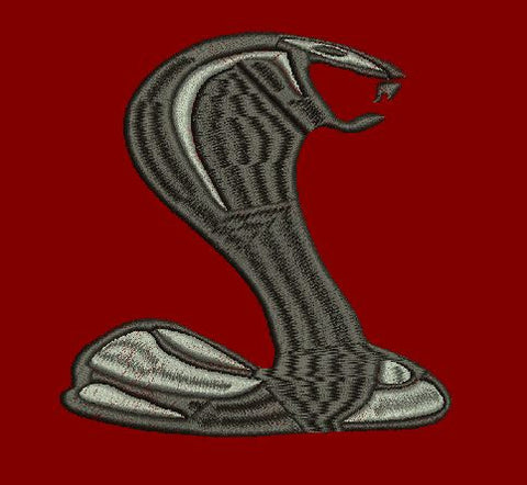 Cobra Snake Embroidery Design 5X7