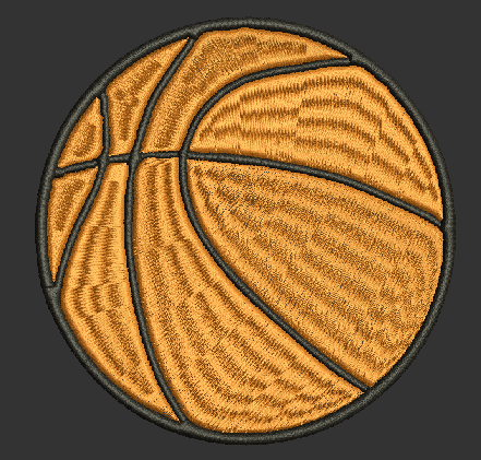 BASKETBALL FILLED Machine Embroidery Design 5X7