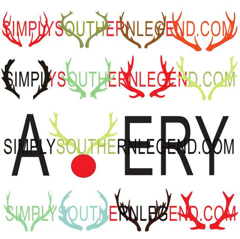 DEER ANTLERS Vinyl Design Instant Download Silhouette Cricut SVG DXF SCUTS2