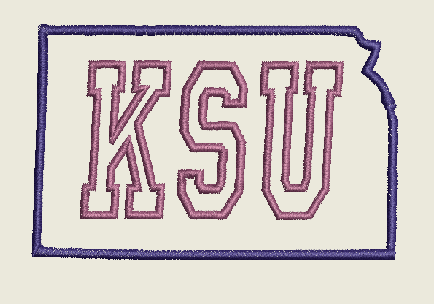 Kansas State University Embroidery Design Instant Download Simply Southern Legend