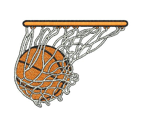 Basketball Hoop Machine Embroidery Digital File Instant Download Graphic Design