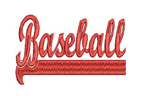BASEBALL SWISH Machine Embroidery Design 4X4 5X7