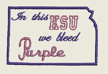 In this KSU we bleed purple Embroidery Design Instant Download Simply Southern Legend