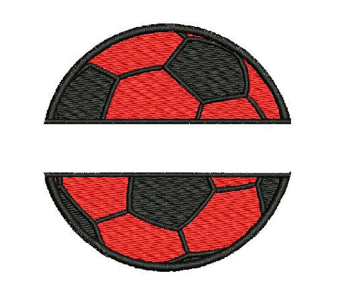 Soccer Split Design Machine Embroidery Digital File Instant Download Graphic Design