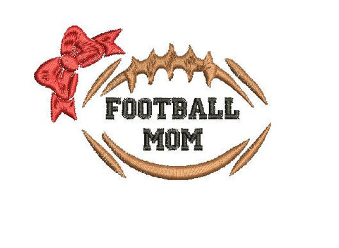 Football Mom Machine Embroidery Digital File Instant Download Graphi Design