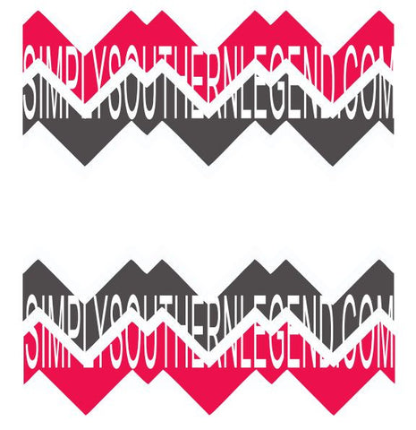 CHEVRON SPLIT DESIGN FRAME Vinyl Design Instant Download Silhouette Cricut SVG DXF
