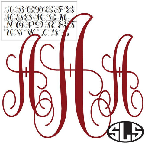 The Vine Monogram Alphabet Set Vinyl Design Instant Download Silhoutte Cricut SVG DXF SCUTS2