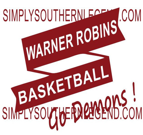 Warner Robins Basketball Go Demons Vinyl Design Instant Download Silhouette Cricut SVG DXF SCUTS2
