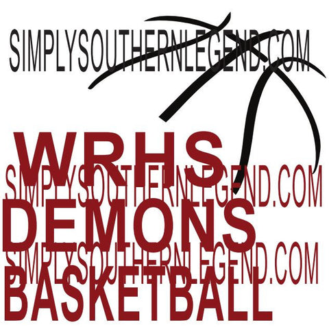 WRHS Demons Basketball  Vinyl Design Instant Download Silhouette Cricut SVG DXF SCUTS2