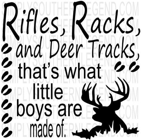 Rifles and Racks and Deer Tracks Vinyl Design Instant Download Silhouette Cricut SVG DXF SCUTS2