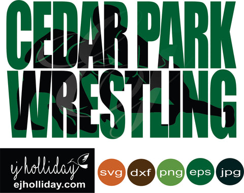 Cedar Park Wrestling svg dxf eps png jpeg jpg Vector Graphic Design Digital Cutting File Instant Download Cameo Silhouette Cricut