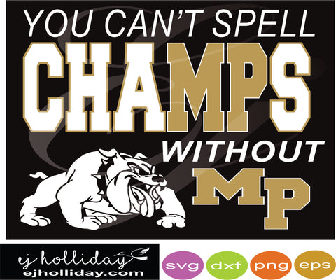 Champs MP Mary Persons Dc svg dxf eps png jpg Vector Graphic Design Digital Cutting File Instant Download Cameo Silhouette Cricut